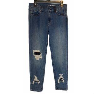 New York & Company Distressed Boyfriend Jeans